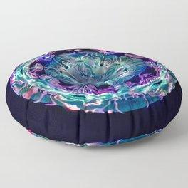 Blue-Green Datura Floor Pillow