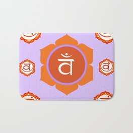 SACRAL SANSKRIT CHAKRAS  ASTRAL PURPLE PSYCHIC WHEEL Bath Mat