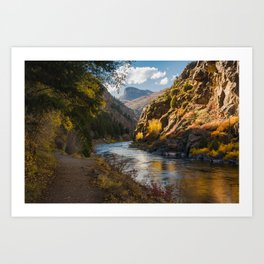 A View Along Colorado's Gunnison River Art Print