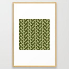 green foliage Framed Art Print
