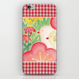 Two Birds Gingham iPhone Skin