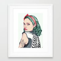 girl Framed Art Prints featuring GIRL by Laura O'Connor