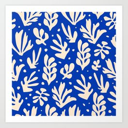 Matisse got the Blues Art Print