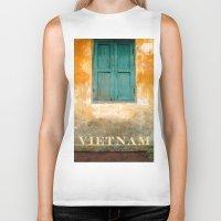 vietnam Biker Tanks featuring Antique Chinese Wall - VIETNAM by CAPTAINSILVA