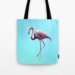 Lone Flamingo Tote Bag