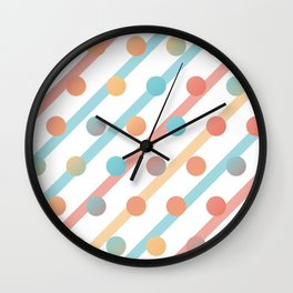 Simple saturated pattern Wall Clock