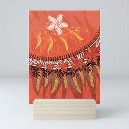 Mauna Kea Hawaiian Sun Tribal Print Mini Art Print