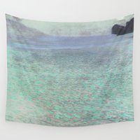 klimt Wall Tapestries featuring Klimt at Attersee by anipani