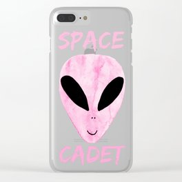 Pink Space Cadet Clear iPhone Case