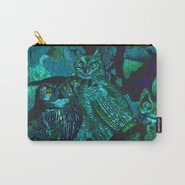 Blue Owls Carry-All Pouch