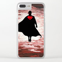 Superman unleashed Clear iPhone Case