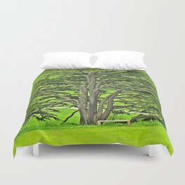 Old English Tree 1 Duvet Cover