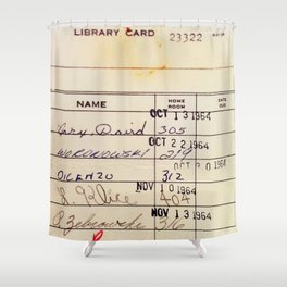 Library Card 23322 Shower Curtain