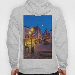 Panoramic street in a European city Hoody