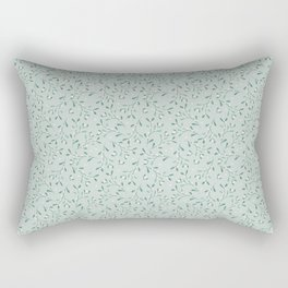 Cottagecore Mistletoe Sage Rectangular Pillow
