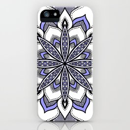 Periwinkle Flower Mandala iPhone Case