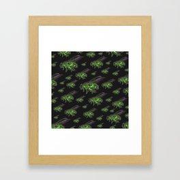 Housefly GHOST GREEN Framed Art Print
