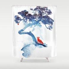 The last apple tree Shower Curtain