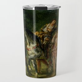 """Eugène Delacroix """"Angelica and the wounded Medoro"""" Travel Mug"""