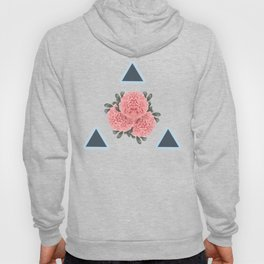 Peonies and Triangles Hoody