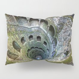The Initiation Well In Quinta Da Regaleira Palace Of The Monteiro Millionaire Sintra Portugal Europe Pillow Sham