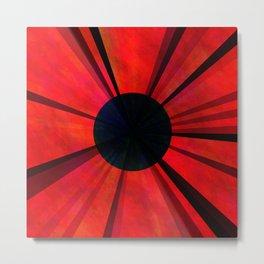 Red Darkviolet Sun Metal Print