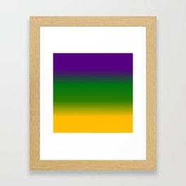 Mardi Gras Gradient 3597 Framed Art Print