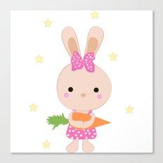 Kids cute cartoon bunny Canvas Print