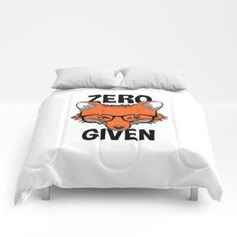 Zero Fox Given funny pun gift nerds Comforters