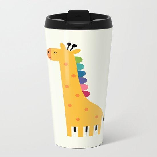 Giraffe Piano Metal Travel Mug