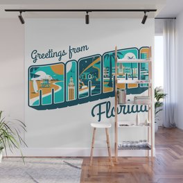 Greeting from MIAMI Florida Wall Mural