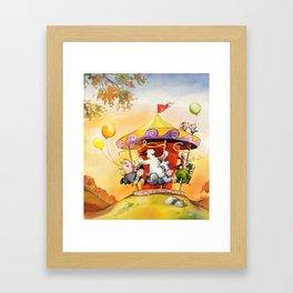 Waldo on marry-go-round  Framed Art Print