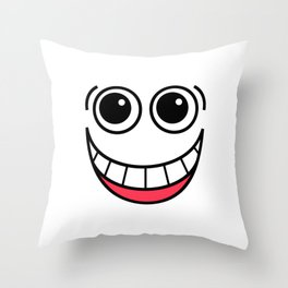 Laughing Face Throw Pillow