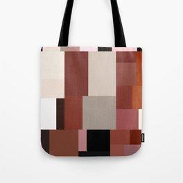 Geometric Art Multicolor Blocks Tote Bag
