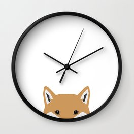 Shiba Inu peeking dog head pet art shibas unique pure breed gifts Wall Clock