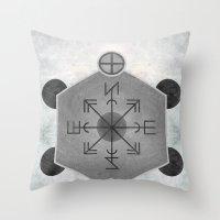 compass Throw Pillows featuring Compass by Joris182