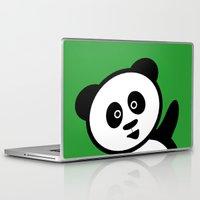 pocket Laptop & iPad Skins featuring Pocket panda by Jaxxx