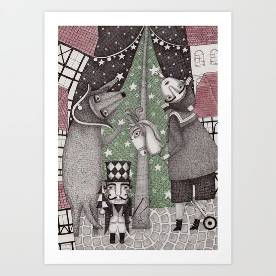 Of Snow and Stars and Christmas Wishes Art Print