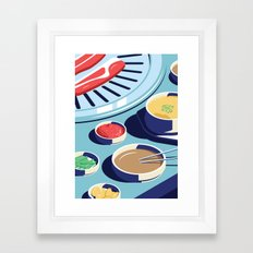 A night out in Seoul - Part 1 - Korean BBQ Framed Art Print