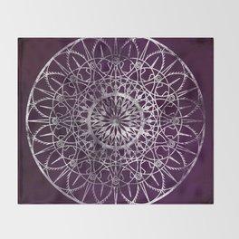 Fire Blossom - Violet Throw Blanket