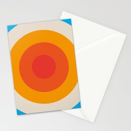 Kauai - Classic Colorful Abstract Minimal Retro 70s Style Graphic Design Stationery Cards