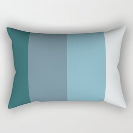 Parable to Behr Blueprint Color of the Year and Accent Colors Vertical Stripes Rectangular Pillow