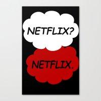 netflix Canvas Prints featuring Netflix Netflix by Goes4