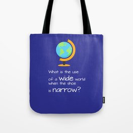 Wide world Tote Bag