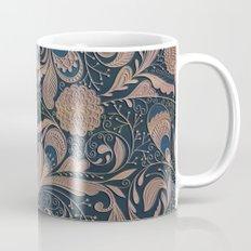 Carved Floral Pattern Mug