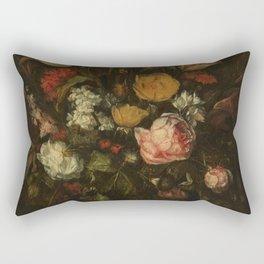 Abraham Hendricksz. van Beyeren - Still life with flowers (1650-1670) Rectangular Pillow