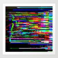 Angry Pixels Art Print