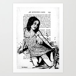 An Evening Call Art Print