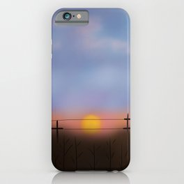 A Sunset Walk  iPhone Case