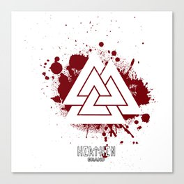 Valknut Whiteout Canvas Print